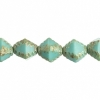 7In. Strand 8mm Green Turquoise Marble Faceted